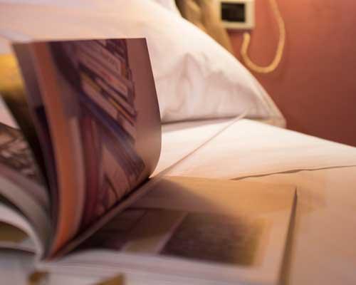 Libri e Guide, in diverse lingue, a disposizione degli ospiti del Bed and Breakfast
