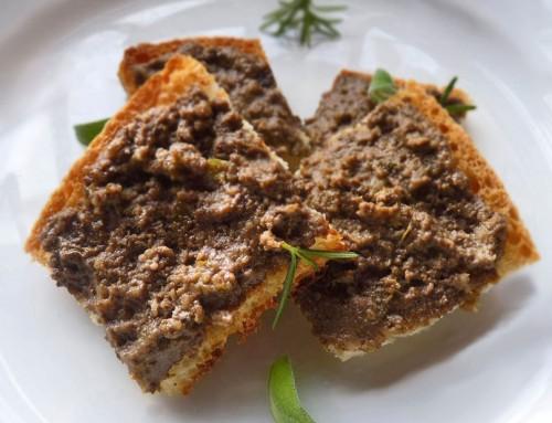 Crostini Toscani<br> Chicken liver paté Crostini