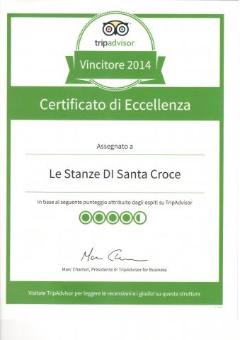 Certificato Eccellenza Tripadvisor 2014